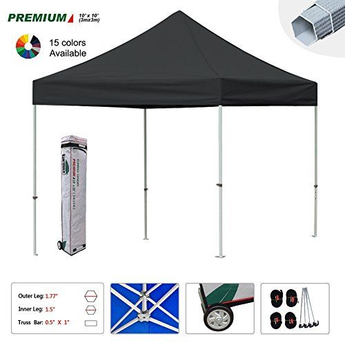 Best Camping Tents  | New Eurmax 10x10 Ft Premium Ez Pop up Instant Canopy Outdoor Shelter Party Tent Gazebo Commercial grade Bonus Roller bagAnd Ground Mat BlackNew Eurmax 10x10 Ft Premium Ez Pop up Instant Canopy Outdoor Shelter Party Tent Gazebo Commercial grade Bonus Roller bagAnd Ground Mat Black ** You can find out more details at the link of the image. Note:It is Affiliate Link to Amazon.
