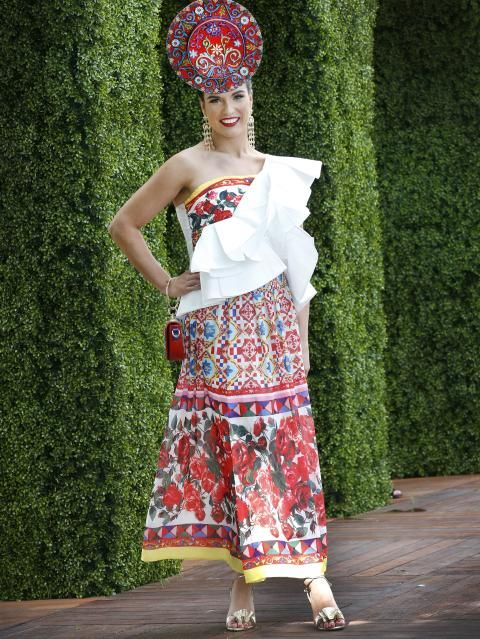 Sally-Anne Mallyon, Fashions on the Field. Picture: David Caird