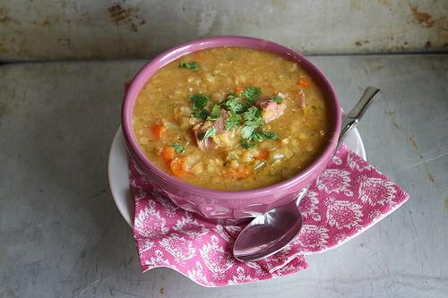 Red Lentil Soup with Ham