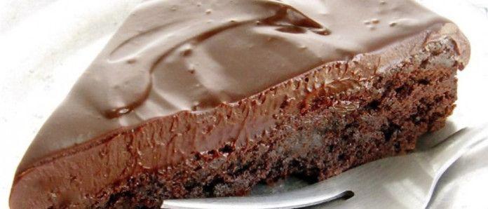 Простой шоколадный торт без муки