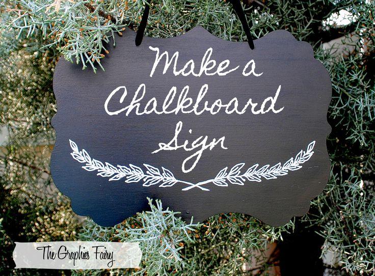 The Graphics Fairy - DIY: DIY Tutorial - Painted Chalkboard SignChalkboard Signs, Diy Tutorials, Chalkboards Signs, Diy Chalkboards, Chalk Painting Projects, Front Porches, Diy Wedding, Painting Chalkboards, Graphics Fairies
