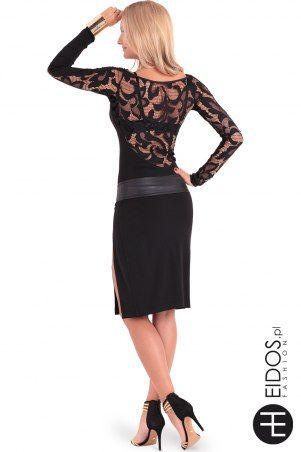 Czarna sukienka z koronką