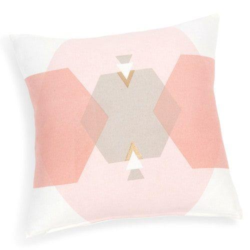 10€ - Fodera di cuscino in cotone rosa 40 x 40 cm ZODIAC