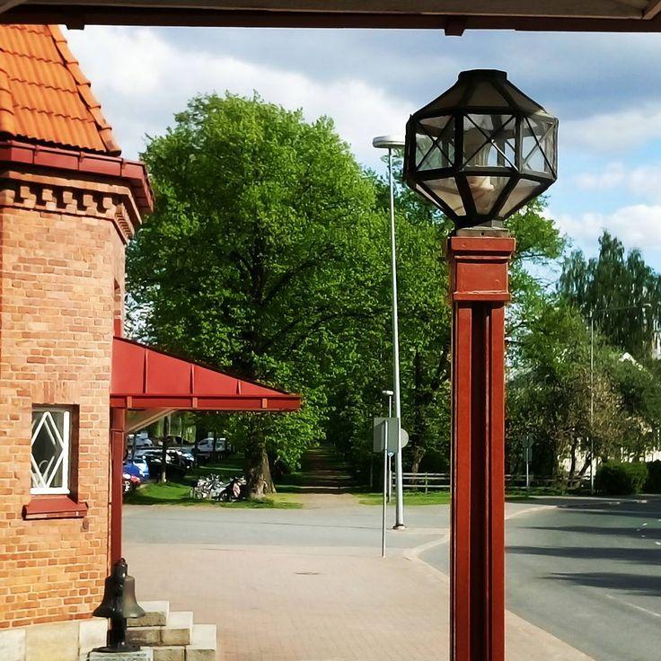 Old lamp post by Hämeenlinna Railway station