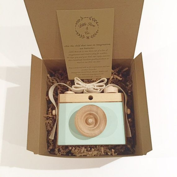 Wooden Camera Homemade Wooden Toy Camera by LittleRoseandCo