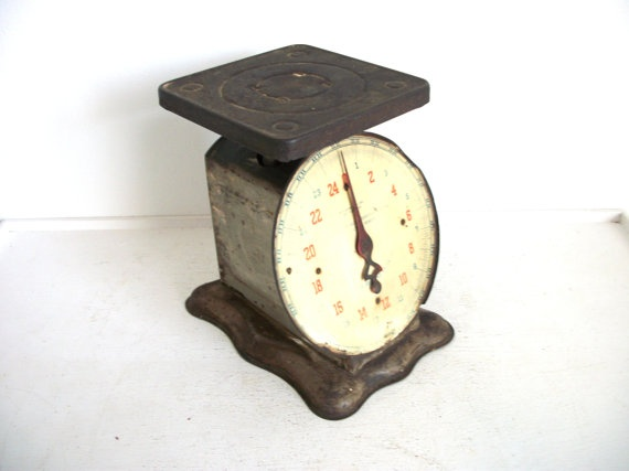 Vintage rustic kitchen scale by thedancingwren on etsy for Rustic kitchen scale