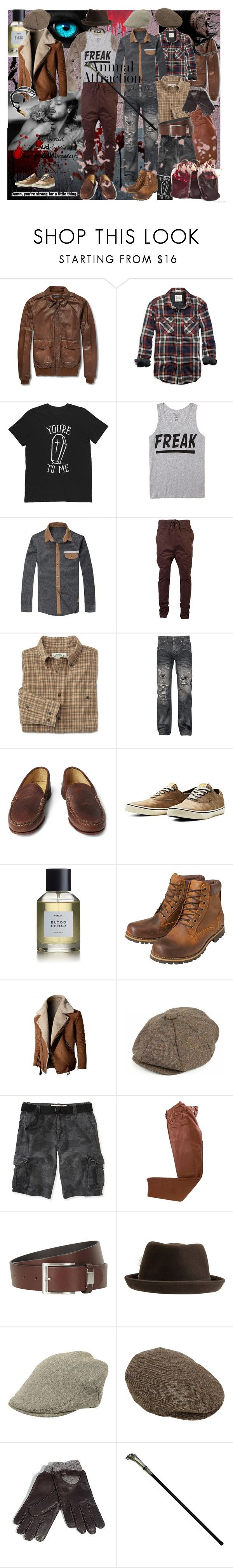 """""""Clan Gangrel"""" by verysmallgoddess ❤ liked on Polyvore featuring Polo Ralph Lauren, American Eagle Outfitters, Burberry, 21 Men, I Love Ugly, Salomon, Quoddy, Jack & Jones, Heretic Parfum and Earthkeepers By Timberland"""