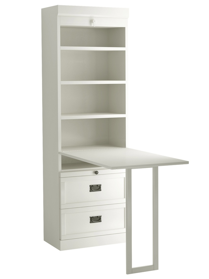 The Drop Down Bookcase Desk Allows For More Surface Area To Be Used On This Murphy Bed Is