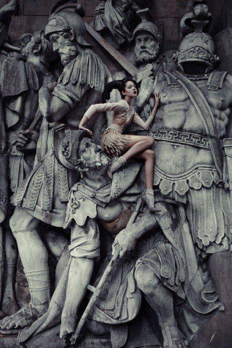 I'm a cyborg but that's OK: Photos, Statue, Ekaterina Belinskaya, Ekaterinabelinskaya, Art, Middle Age, Fashion Photography, Fashion Editorial, Fashionphotography