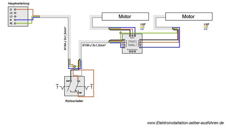 Hier finden Sie den Schaltplan eines Rolladen. Anleitungen mit denen Sie Ihre Elektroinstallation selber machen zu können.