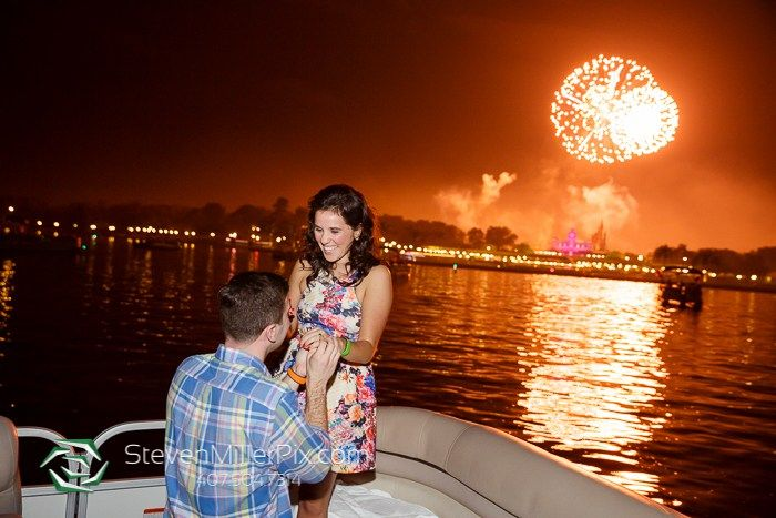 A surprise proposal on a Magic Kingdom Fireworks Cruise. From…