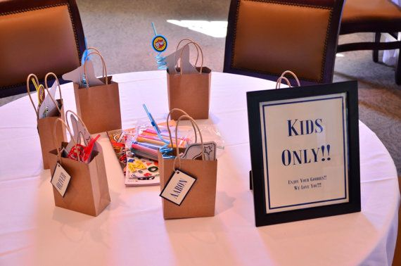Kids Wedding Reception Bags Wedding Favors by ItIsAllInTheDetails