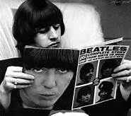 Beatle Ringo Starr reading a Beatles magazine!