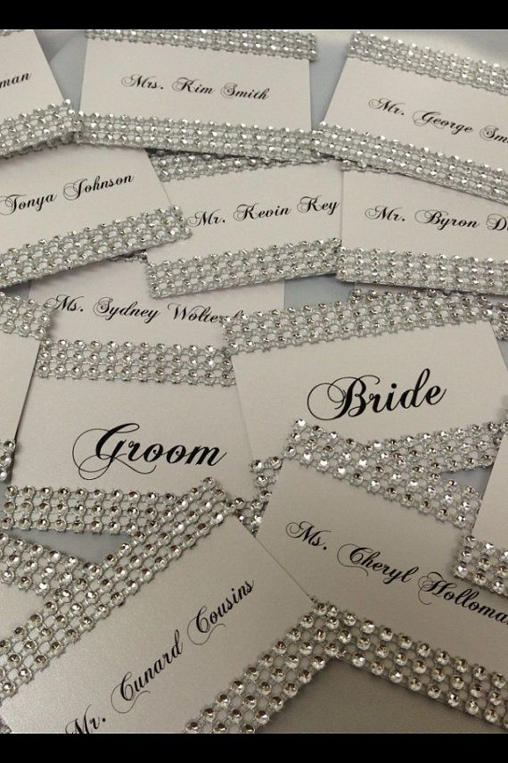 BLING Place Cards