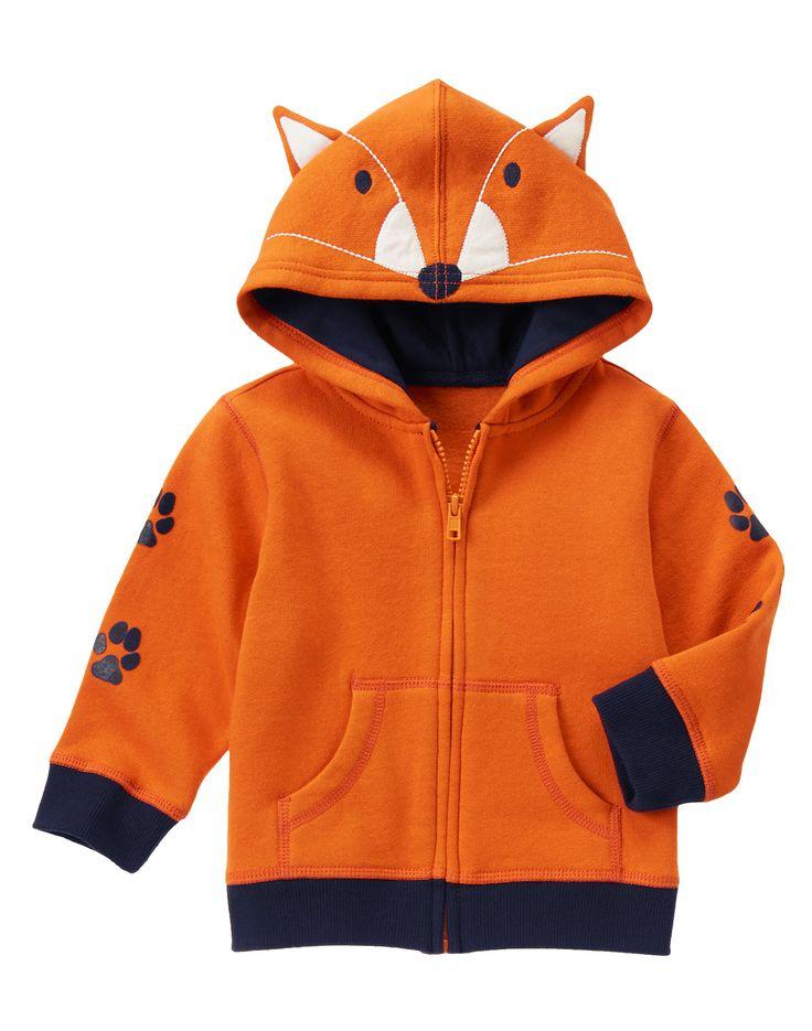 Fox Hoodie at Gymboree (Gymboree 3m-5T)