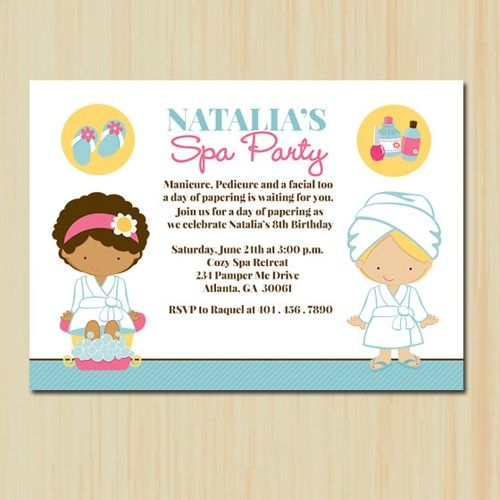 17 Best images about Girls spa party ideas – Spa Party Invitation Ideas