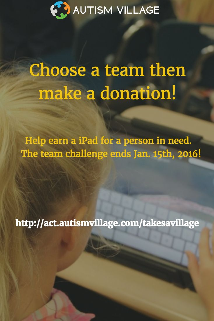 January 15th, 2017 is fast approaching! Please spread the word to your friends as a final appeal in support of the #AutismVillage matching grant challenge!  If you've already donated to one of our awesome teams or individually,  thank you! #matchinggrant #team #autismawareness #autismvillage #appsforautism