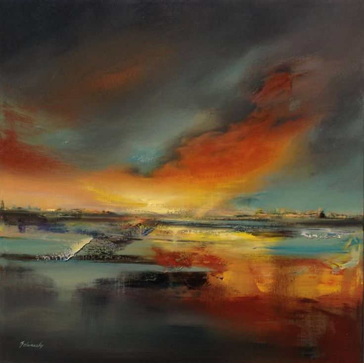 "Saatchi Art Artist Beata Belanszky-Demko; Painting, ""When the Dragons wake up"" #art"
