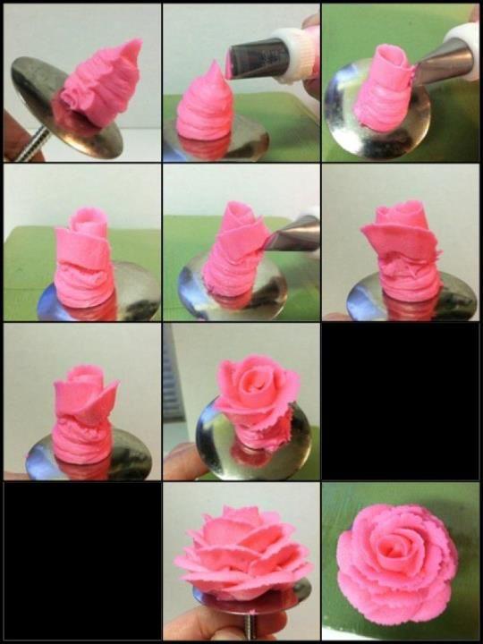 Making a Buttercream Rose | Caroline's Edible Creations