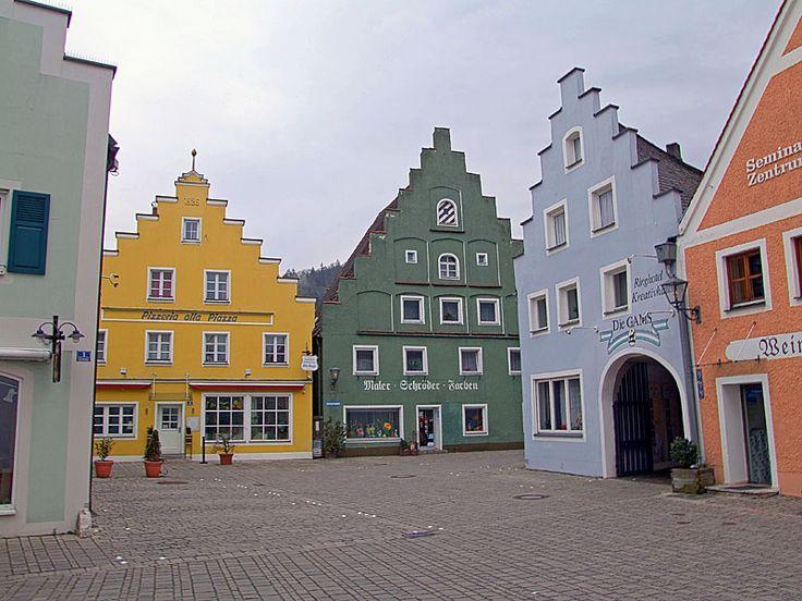 Beilngries houses, Bavaria, Germany