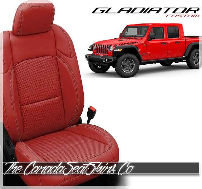 2020 Jeep Gladiator Custom Leather Upholstery Jeep Gladiator Custom Leather Leather Seat