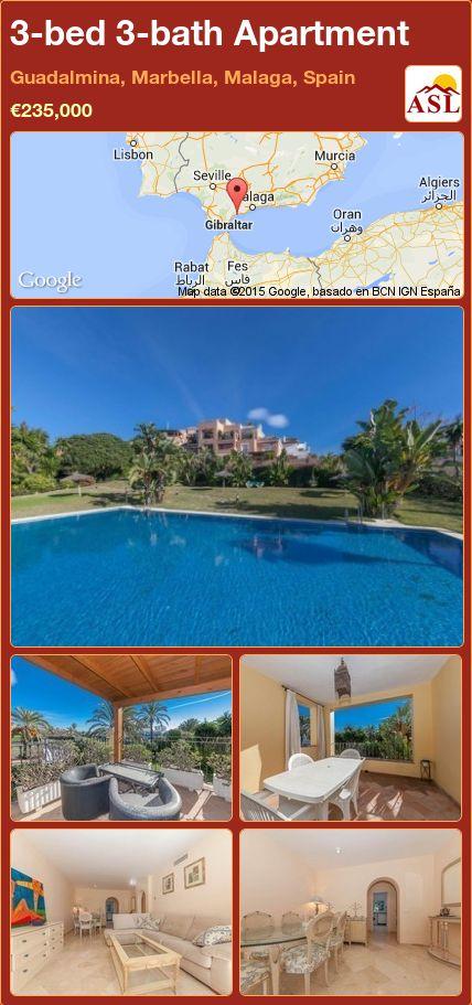 3-bed 3-bath Apartment in Guadalmina, Marbella, Malaga, Spain ►€235,000 #PropertyForSaleInSpain