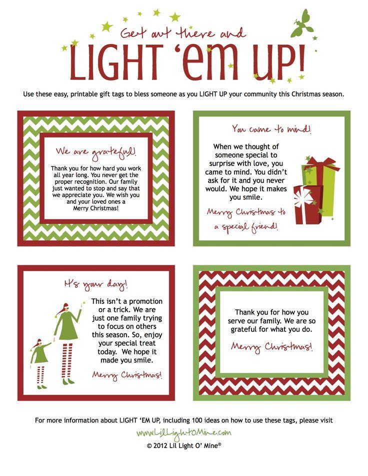 Light 'em up tags