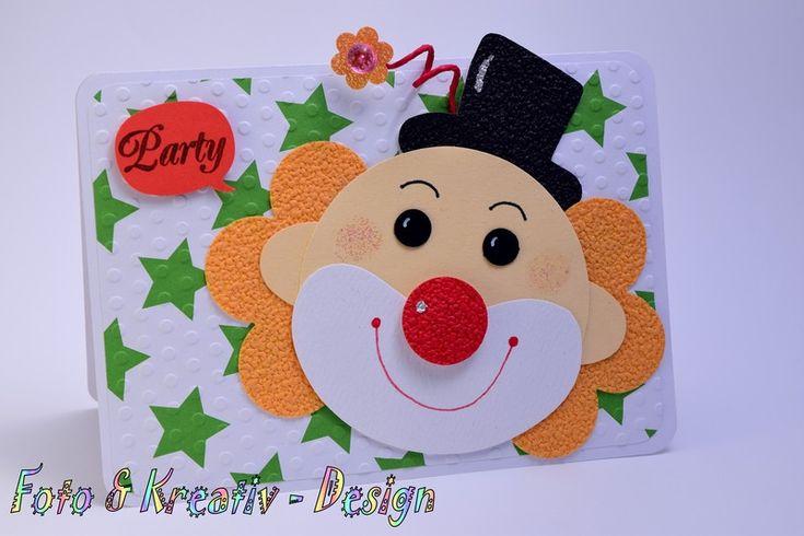 Clownparty - Einladung - Karneval von Foto&Kreativ-Design auf DaWanda.com