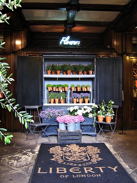 The Flower Shop at Liberty. Best store in London. For everything. Except food...there's none. #shop #display #flowers