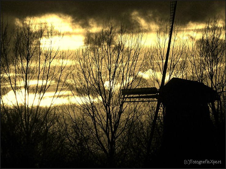 Dutch mill at Terwolde 'at the IJssel' NL #sunset