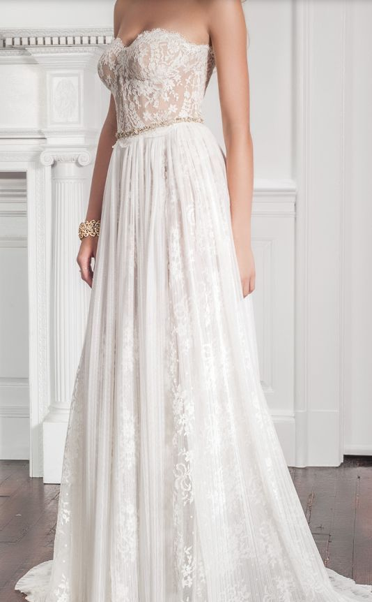Featured Dress: Muse by Callie Tein via Modern Trousseau; Wedding dress idea.