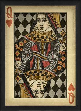 'Queen of Hearts' Print eclectic-prints-and-posters OR make a ovesized enlarged copy of an old card onto a light-colored paper for more authentic feel.