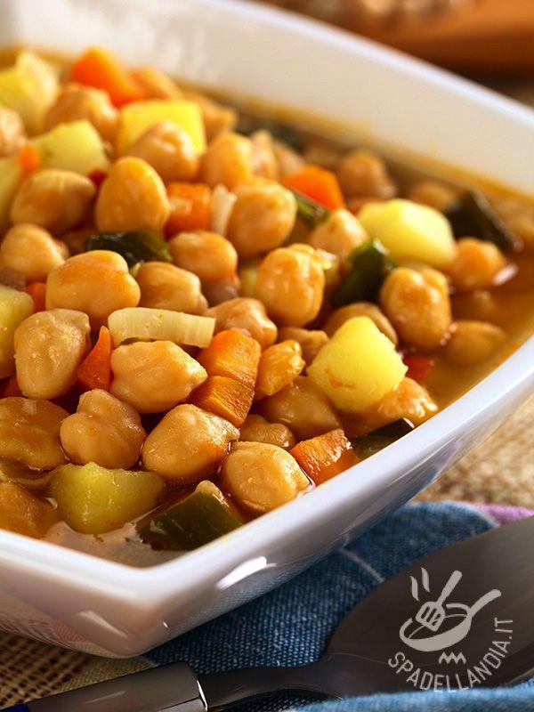 Ceci In Umido Ricetta Nel 2019 Ricette Cucinare Le Verdure E Zuppe Di Legumi