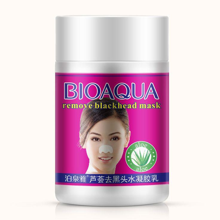BIOAQUA Aloe Blackhead Remover Mask Nose Peel Mask Oil-control Acne Treatment Black Head Face Mask Better Than PILATEN