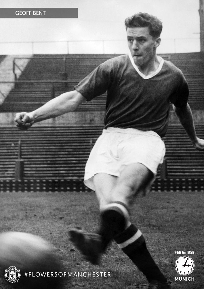 Geoff Bent, born in Salford, played for @manutd between 1948 and 1958. The full-back made his first senior appearance for the club during the 1954/55 season but his life was tragically cut short when he died at Munich on 6 February 1958.