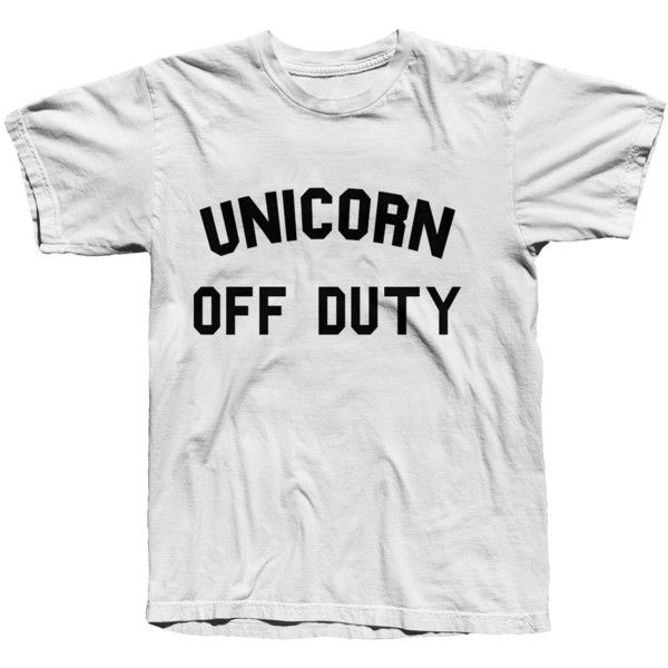 Unicorn Off Duty Tshirt Graphic Tee ($19) ❤ liked on Polyvore featuring tops, t-shirts, black, women's clothing, graphic design shirts, graphic print t shirts, unisex t shirts, unicorn shirt and graphic shirts