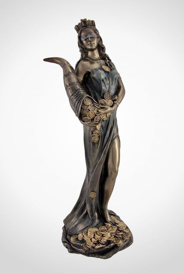 Statue Of Tyche Greek Goddess Of Fortune Luck Also