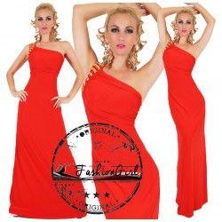 Rochie eleganta lunga rosie Seductive