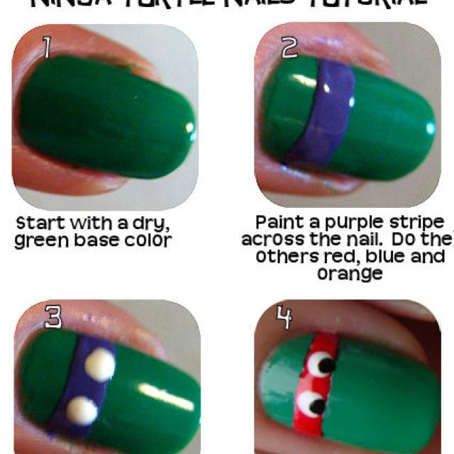 Ninja turtle nails. :)