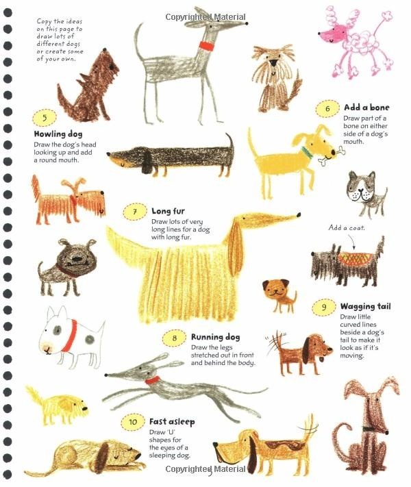 I enjoy seeing how different artists interpret dogs - Stella Baggott - 365 Things to Draw & Paint.