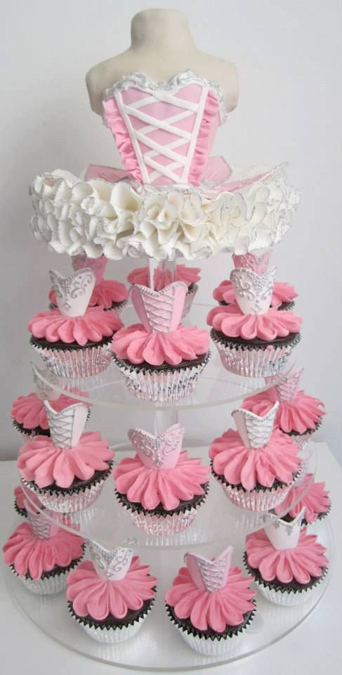 Ballerina Cupcake Tower