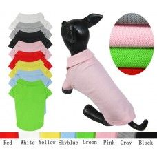 Buy 2 button blank polo shirt only at $ 8.99 Small Medium Dog Apparel  T-Shirt  Product Code: DTPB-01PL