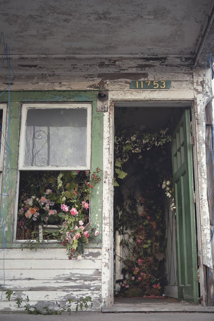 The shoots of recovery continue to grow in Detroit with floral takeover at abandoned house...