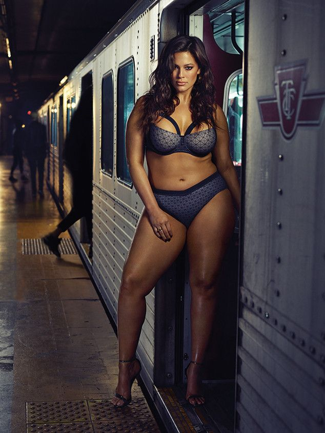 Boarding Now from Ashley Graham Wears Addition Elle Lingerie on Subway