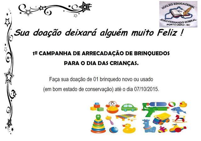 Jornal Sobral: 1ª Campanha de Arrecadação de Brinquedos