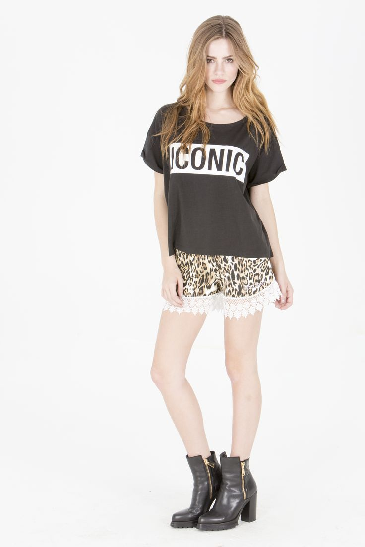 Get this look here! Top: http://www.shophappiness.com/top-essential-iconic-nero.html Shorts: http://www.shophappiness.com/pantaloncini-leo-pizzo-17755.html