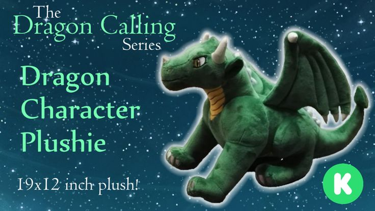 Laeka'Draeon, the courageous dragon-seeker from the fantasy adventure series Dragon Calling is now a 19x12 inch dragon plushie!