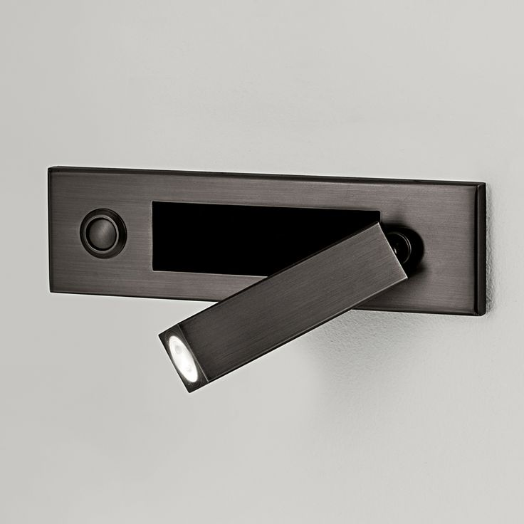 Led Wall Reading Light: Led Dock, Reading Light In Black Bronze Finish By Chelsom