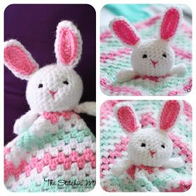 The Stitchin' Mommy: Bunny Lovey {Free Crochet Pattern} - baby blanket in