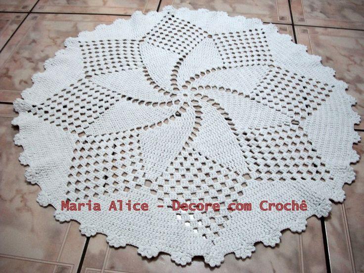 ✿⊱╮ Tapete em Crochê -   /   Carpet Crochet - ✿⊱╮